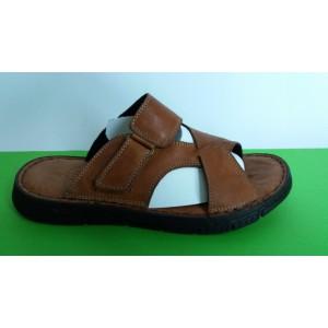 Мод:500 Мъжки анатомични чехли естествена кожа