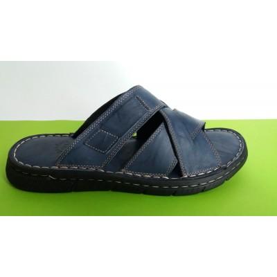 Мод:501 Мъжки анатомични чехли естествена кожа