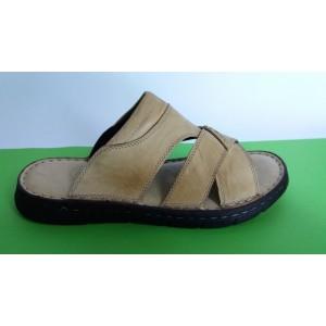 Мод:502 Мъжки анатомични чехли естествена кожа