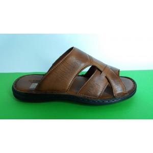 Мод:510 Мъжки анатомични чехли естествена кожа